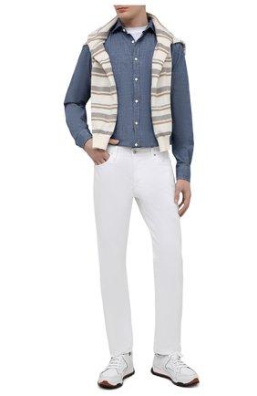 Мужская хлопковая рубашка JACOB COHEN голубого цвета, арт. J8066 05308-L/55   Фото 2