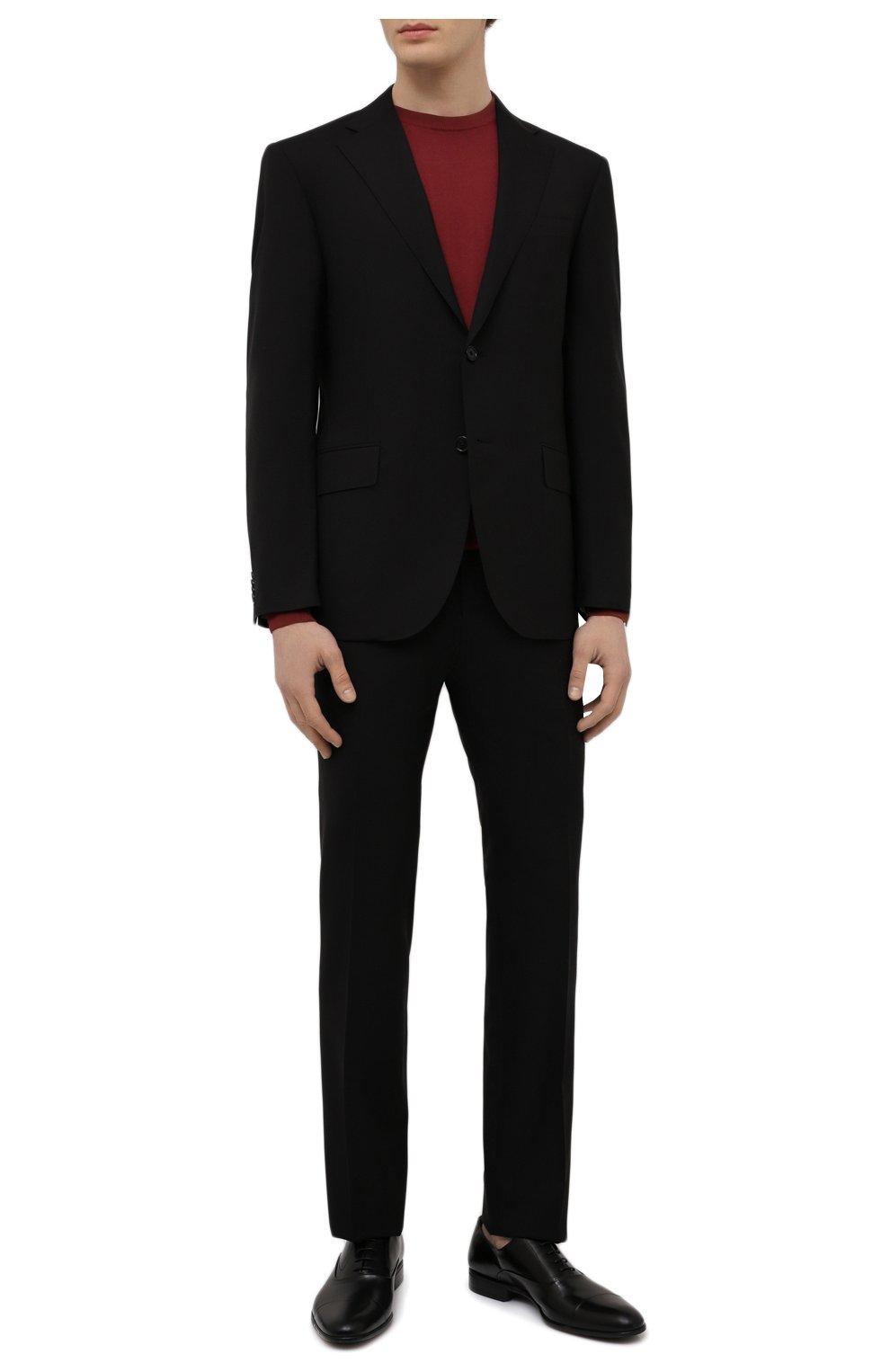 Мужские кожаные оксфорды MORESCHI черного цвета, арт. 39165/MA/VITELL0 | Фото 2 (Материал внутренний: Натуральная кожа; Стили: Классический)