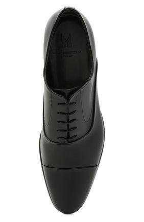 Мужские кожаные оксфорды MORESCHI черного цвета, арт. 39165/MA/VITELL0 | Фото 5 (Материал внутренний: Натуральная кожа; Стили: Классический)