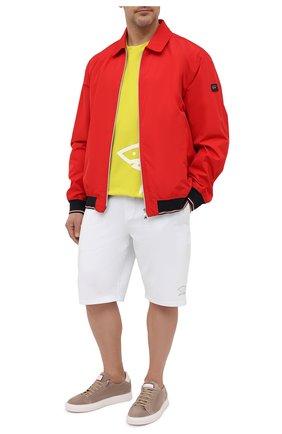 Мужская хлопковая футболка PAUL&SHARK салатового цвета, арт. 21411070/C00/3XL-6XL   Фото 2