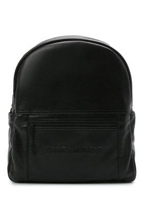 Мужской кожаный рюкзак nuxx SAINT LAURENT черного цвета, арт. 623698/03UPZ | Фото 1