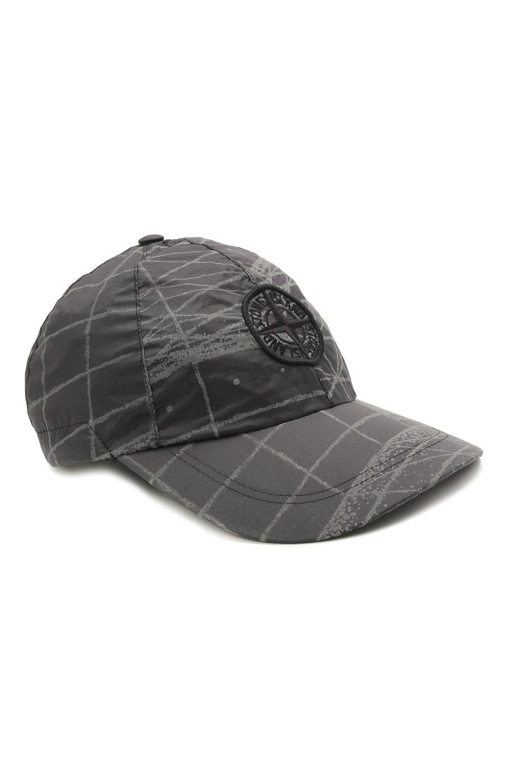 Мужской бейсболка STONE ISLAND темно-серого цвета, арт. 741599598 | Фото 1