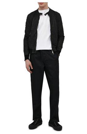 Мужской кожаный бомбер GIORGIO BRATO черного цвета, арт. GU21S9899VBRUSH | Фото 2