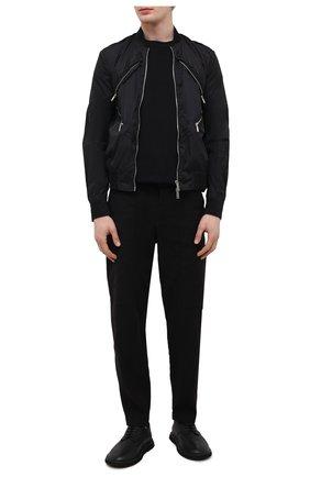 Мужской бомбер DSQUARED2 черного цвета, арт. S71AN0277/S53581 | Фото 2 (Рукава: Длинные; Материал внешний: Синтетический материал; Длина (верхняя одежда): Короткие; Кросс-КТ: Куртка; Принт: Без принта; Стили: Гранж)