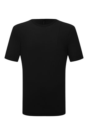 Мужская хлопковая футболка TRANSIT черного цвета, арт. CFUTRN2371 | Фото 1