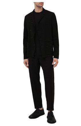 Мужская хлопковая футболка TRANSIT черного цвета, арт. CFUTRN2371 | Фото 2