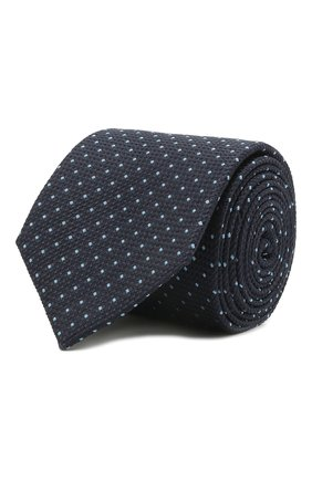 Мужской шелковый галстук VAN LAACK темно-синего цвета, арт. LUIS-EL/K04174 | Фото 1