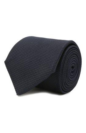 Мужской шелковый галстук VAN LAACK синего цвета, арт. LUIS-EL/K04171 | Фото 1