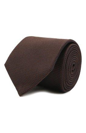 Мужской шелковый галстук VAN LAACK коричневого цвета, арт. LUIS-EL/K04171 | Фото 1