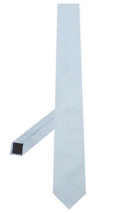 Мужской галстук из шелка и хлопка VAN LAACK синего цвета, арт. LUIS-EL/K04151 | Фото 2