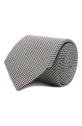 Мужской галстук из шелка и хлопка VAN LAACK черно-белого цвета, арт. LUIS-EL/K04151 | Фото 1