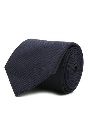 Мужской галстук из шелка и хлопка VAN LAACK темно-синего цвета, арт. LUIS-EL/K04039 | Фото 1 (Материал: Текстиль, Хлопок, Шелк; Принт: Без принта)