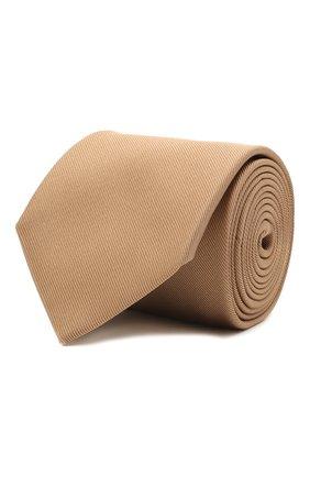 Мужской галстук из шелка и хлопка VAN LAACK бежевого цвета, арт. LUIS-EL/K04039 | Фото 1