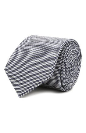 Мужской галстук из шелка и хлопка VAN LAACK темно-синего цвета, арт. LER0Y/K04158 | Фото 1