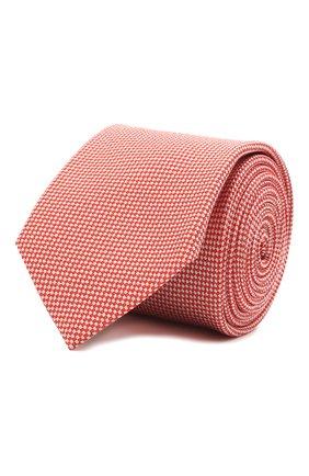 Мужской галстук из шелка и хлопка VAN LAACK красного цвета, арт. LER0Y/K04158 | Фото 1