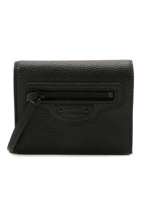 Мужской кожаный кошелек BALENCIAGA черного цвета, арт. 655245/15Y07 | Фото 1