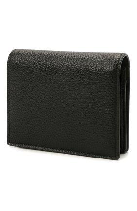 Мужской кожаный кошелек BALENCIAGA черного цвета, арт. 655245/15Y07 | Фото 2
