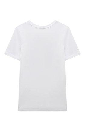 Детская хлопковая футболка ZHANNA & ANNA белого цвета, арт. ZAB012063White | Фото 2