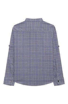 Детская хлопковая рубашка BRUNELLO CUCINELLI темно-синего цвета, арт. BW642C330B | Фото 2