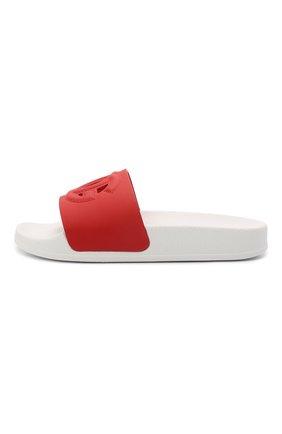 Детские кожаные шлепанцы DOLCE & GABBANA красного цвета, арт. D11031/A1735/29-36   Фото 2 (Материал внутренний: Натуральная кожа)
