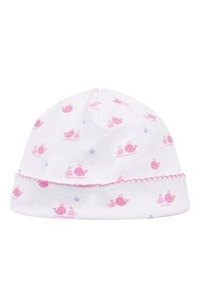 Детского хлопковая шапка KISSY KISSY розового цвета, арт. KG505760N | Фото 1