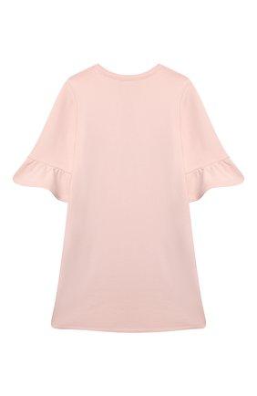 Детское хлопковое платье SONIA RYKIEL ENFANT светло-розового цвета, арт. 21S1DR04 | Фото 2
