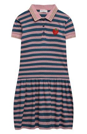 Детское хлопковое платье SONIA RYKIEL ENFANT разноцветного цвета, арт. 21S1DR25 | Фото 1