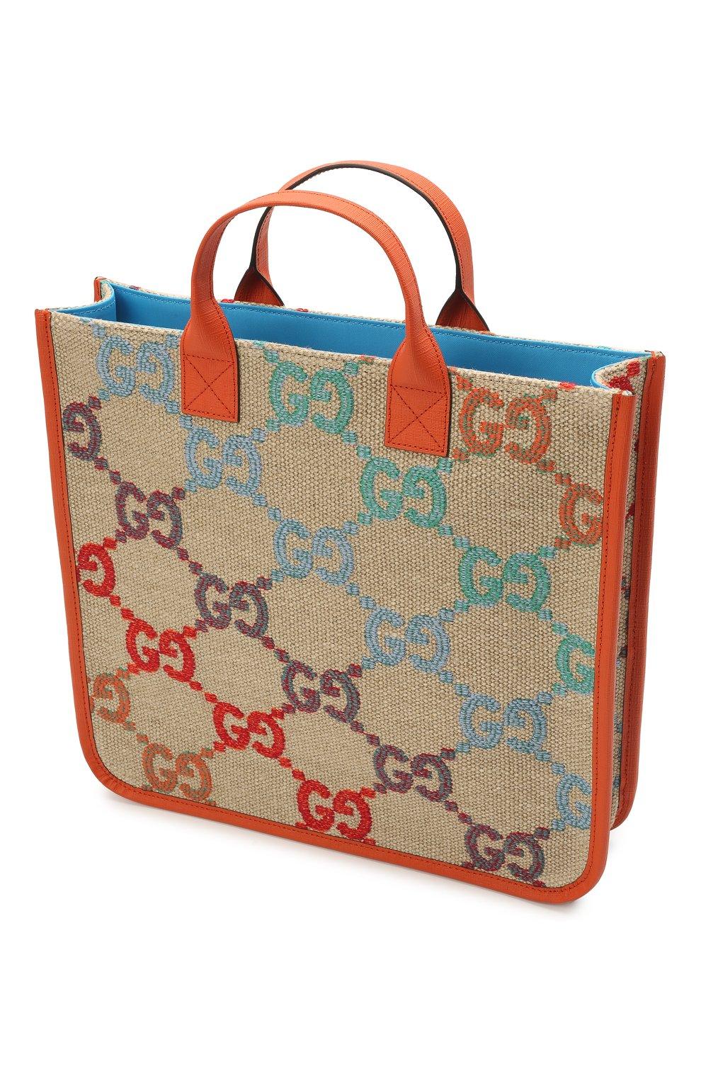 Детская сумка GUCCI разноцветного цвета, арт. 550763/2KMA0 | Фото 3 (Материал: Текстиль)