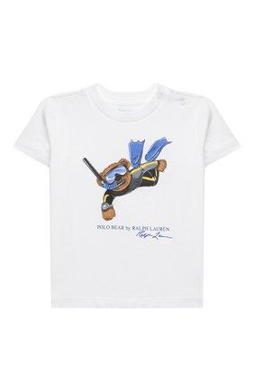 Детский комплект из футболки и шорт POLO RALPH LAUREN красного цвета, арт. 320836013 | Фото 2