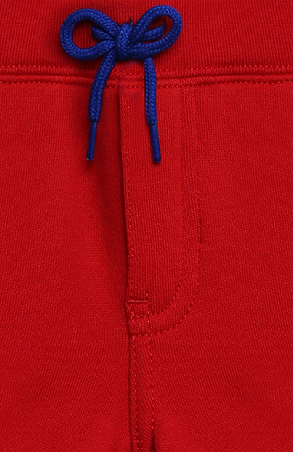 Детский комплект из футболки и шорт POLO RALPH LAUREN красного цвета, арт. 320836013   Фото 7