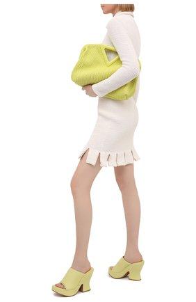Женские кожаные мюли wedge BOTTEGA VENETA желтого цвета, арт. 658979/VBSD0 | Фото 2