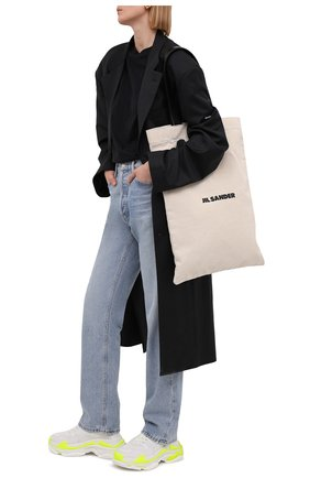 Женские текстильные кроссовки triple s BALENCIAGA белого цвета, арт. 524039/W2CA3 | Фото 2