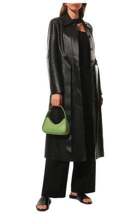 Женские кожаные шлепанцы  box f05 BALENCIAGA черного цвета, арт. 653796/WA8FF | Фото 2 (Подошва: Плоская; Материал внутренний: Натуральная кожа; Каблук высота: Низкий)