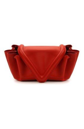 Женская сумка beak medium BOTTEGA VENETA красного цвета, арт. 658523/VCP30   Фото 1 (Материал: Натуральная кожа; Сумки-технические: Сумки через плечо; Размер: medium)