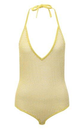 Женское боди BOTTEGA VENETA желтого цвета, арт. 657729/V0R60 | Фото 1