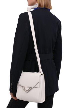Женская сумка clip BOTTEGA VENETA белого цвета, арт. 652391/V0I42   Фото 2