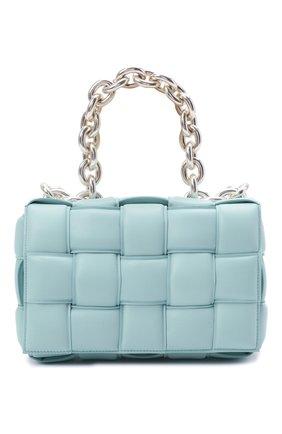 Женская сумка chain cassette BOTTEGA VENETA голубого цвета, арт. 631421/VBWZ0 | Фото 1