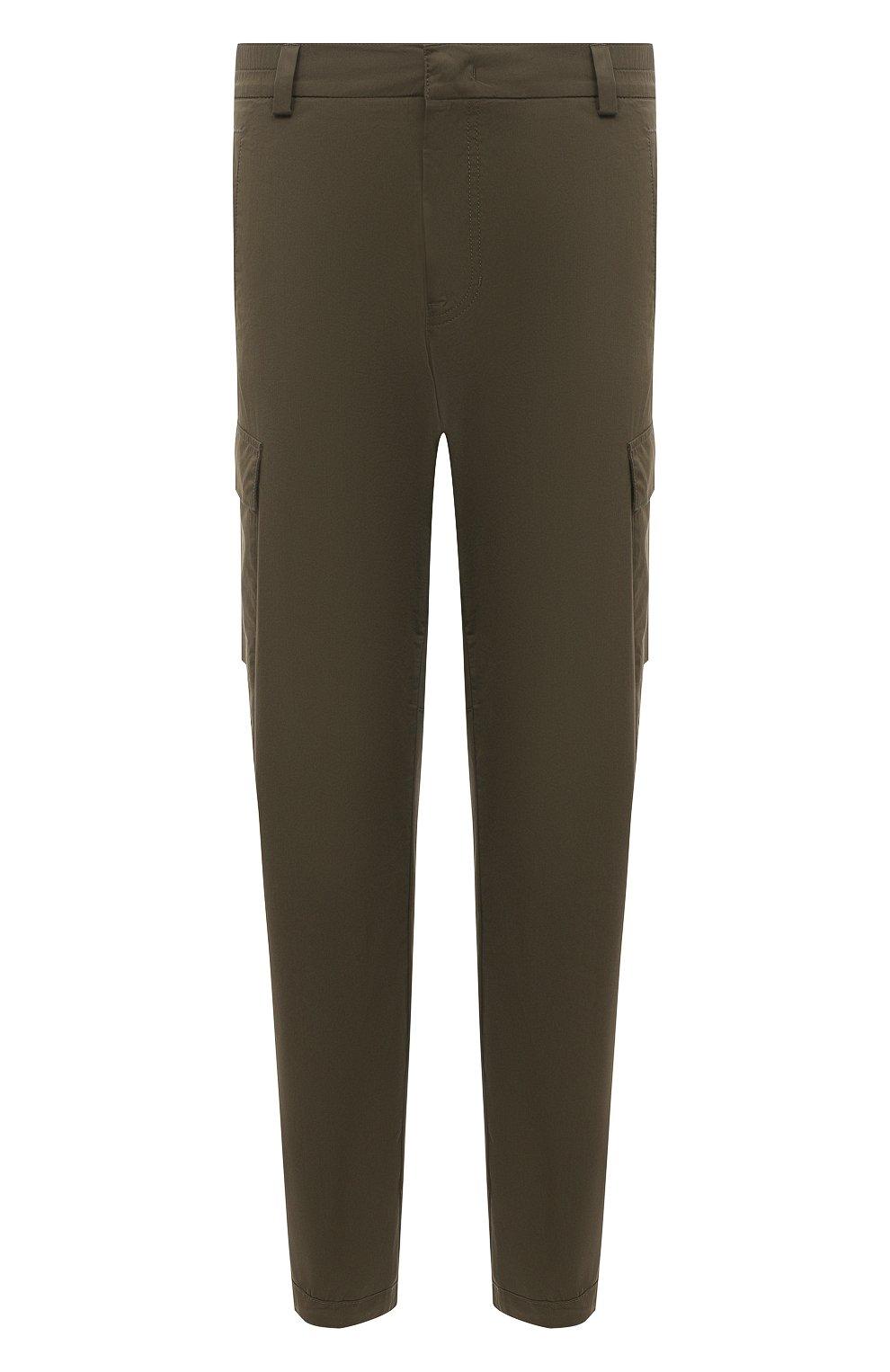 Мужские хлопковые брюки-карго BOGNER хаки цвета, арт. 18013753 | Фото 1 (Силуэт М (брюки): Карго; Длина (брюки, джинсы): Стандартные; Случай: Повседневный; Материал внешний: Хлопок; Стили: Кэжуэл)