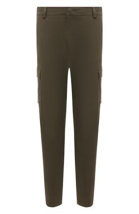 Мужские хлопковые брюки-карго BOGNER хаки цвета, арт. 18013753 | Фото 1