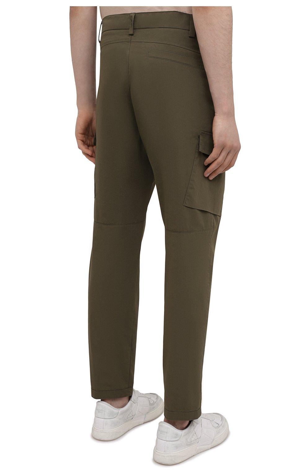 Мужские хлопковые брюки-карго BOGNER хаки цвета, арт. 18013753 | Фото 4 (Силуэт М (брюки): Карго; Длина (брюки, джинсы): Стандартные; Случай: Повседневный; Материал внешний: Хлопок; Стили: Кэжуэл)