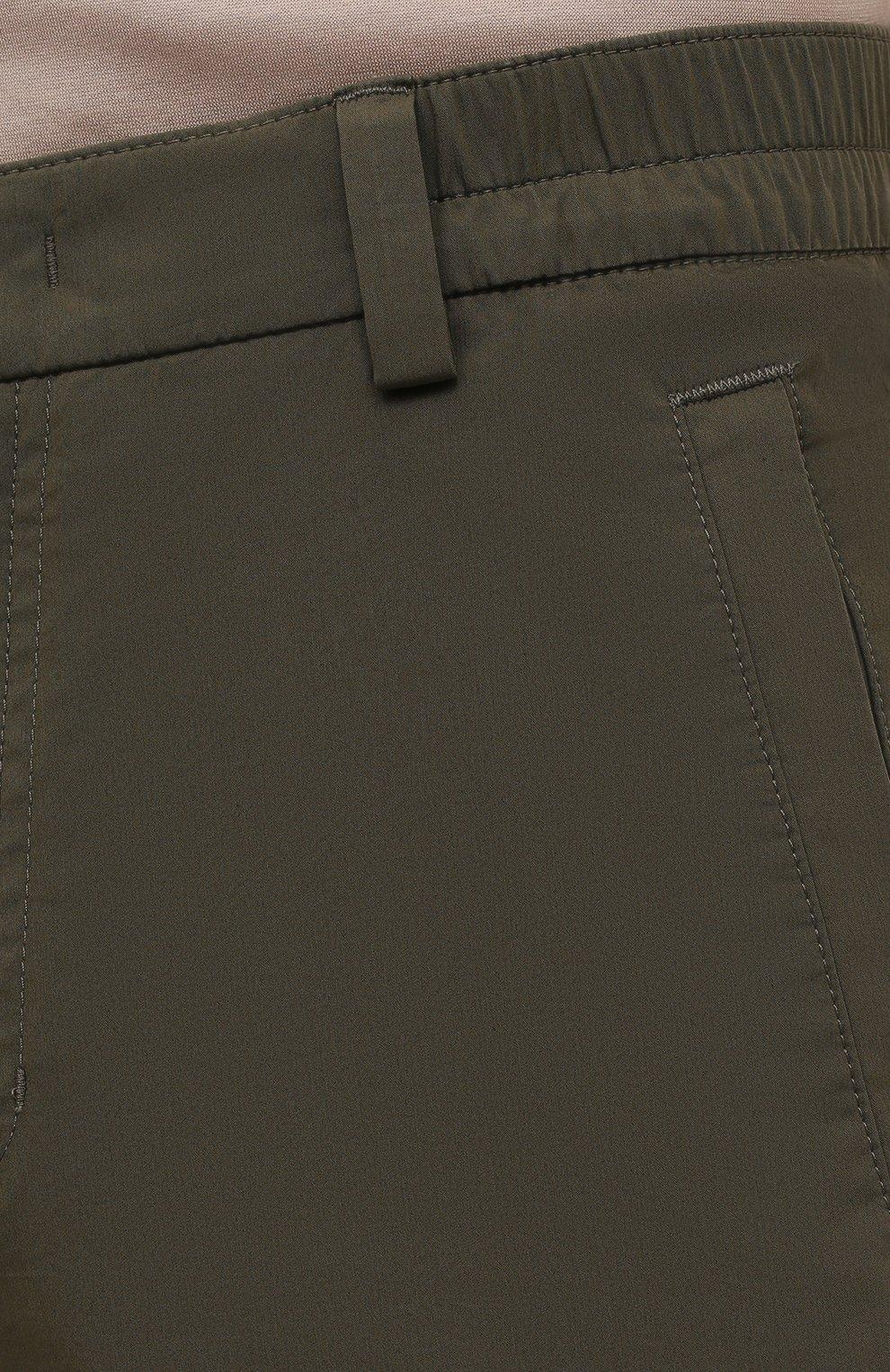 Мужские хлопковые брюки-карго BOGNER хаки цвета, арт. 18013753 | Фото 5 (Силуэт М (брюки): Карго; Длина (брюки, джинсы): Стандартные; Случай: Повседневный; Материал внешний: Хлопок; Стили: Кэжуэл)