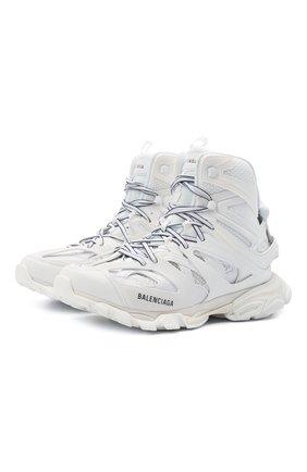 Мужские комбинированные кроссовки track hike BALENCIAGA белого цвета, арт. 654867/W3CP3 | Фото 1