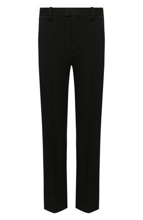 Мужские хлопковые брюки BOTTEGA VENETA черного цвета, арт. 657796/V0BT0 | Фото 1 (Материал внешний: Хлопок; Случай: Повседневный; Стили: Минимализм; Длина (брюки, джинсы): Стандартные)