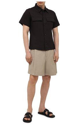 Мужские хлопковые шорты BOTTEGA VENETA бежевого цвета, арт. 657026/V0BS0 | Фото 2