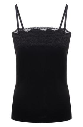 Женская шелковая сорочка MARJOLAINE черного цвета, арт. 3MAR4003 | Фото 1