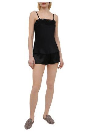 Женская шелковая сорочка MARJOLAINE черного цвета, арт. 3MAR4003 | Фото 2