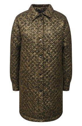 Женское пальто из вискозы SEVEN LAB зеленого цвета, арт. SPL20-green leo   Фото 1