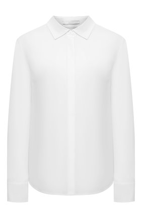 Женская хлопковая рубашка BOSS белого цвета, арт. 50404953 | Фото 1