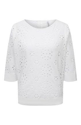 Женская хлопковая блузка LA FABBRICA DEL LINO белого цвета, арт. 10504   Фото 1