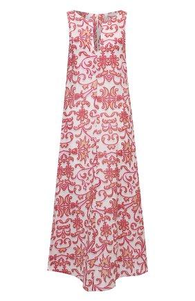 Женское льняное платье LA FABBRICA DEL LINO розового цвета, арт. 10334 | Фото 1